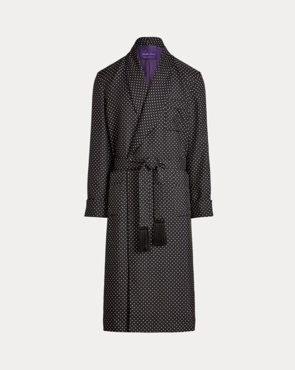 Polka-Dot Silk Robe