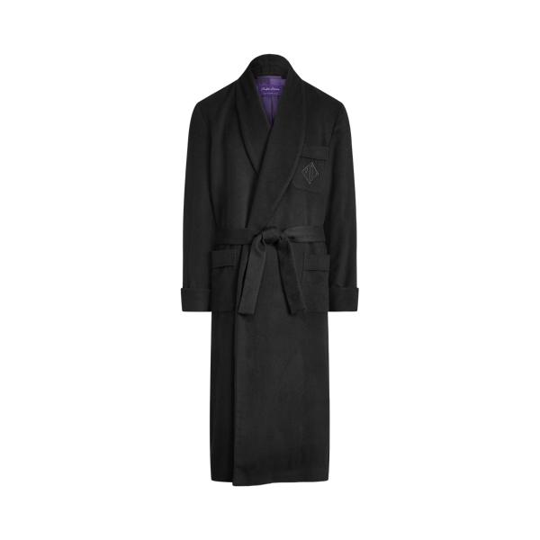 Purple Label Cashmere Robe In Black