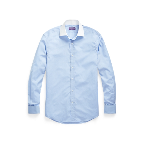 Purple Label End-on-end French-cuff Shirt In Blue