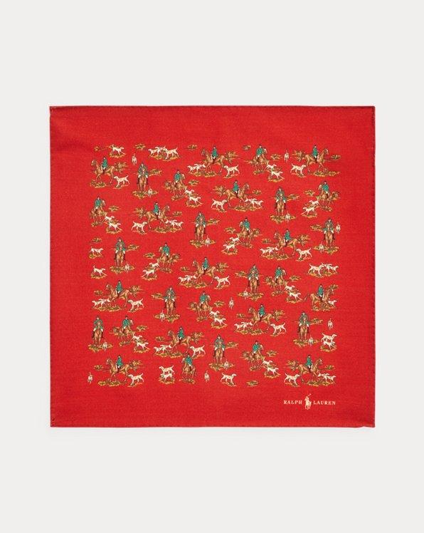 Print Wool Pocket Square