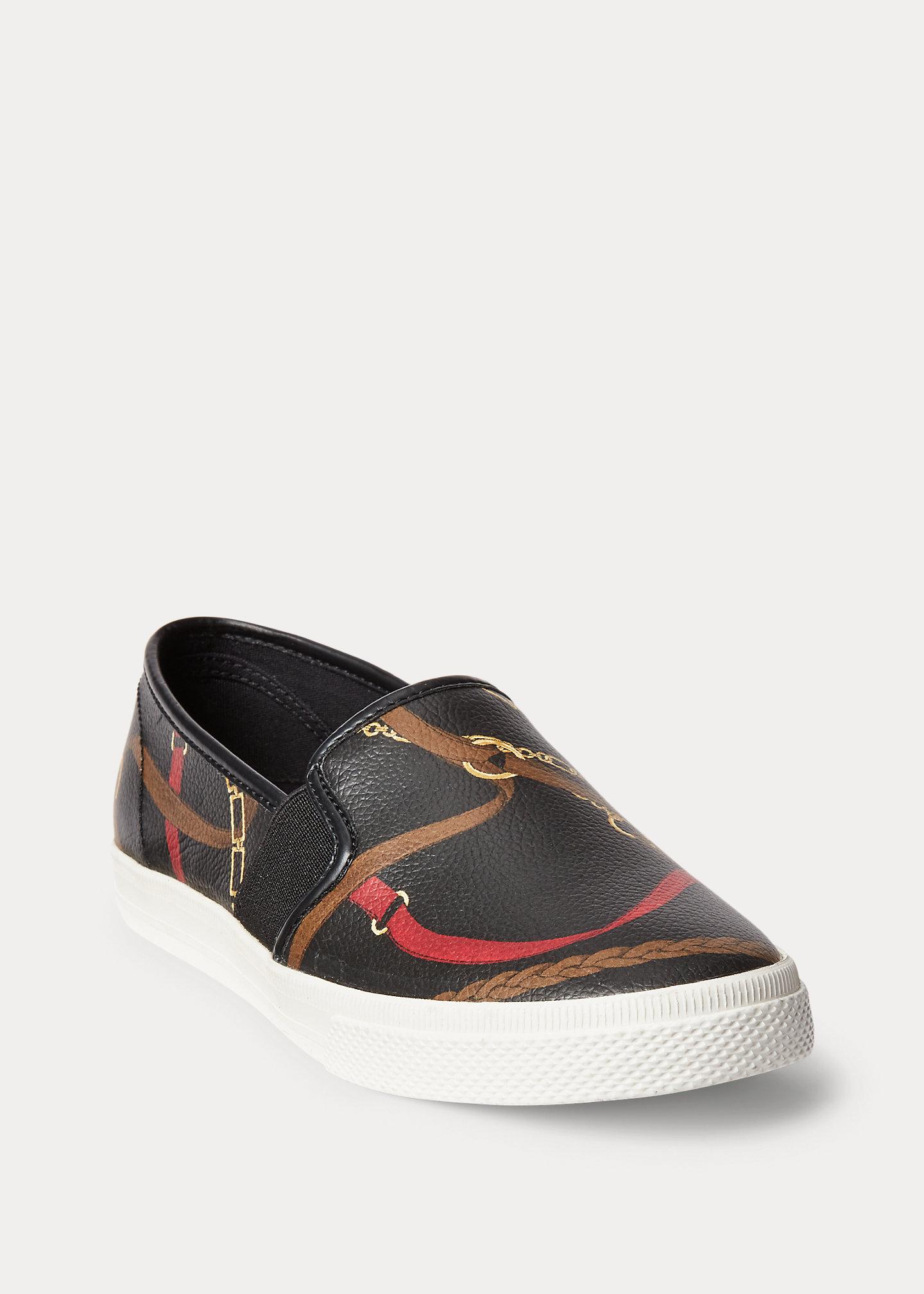 Lauren Jinny Faux-Leather Sneaker 2