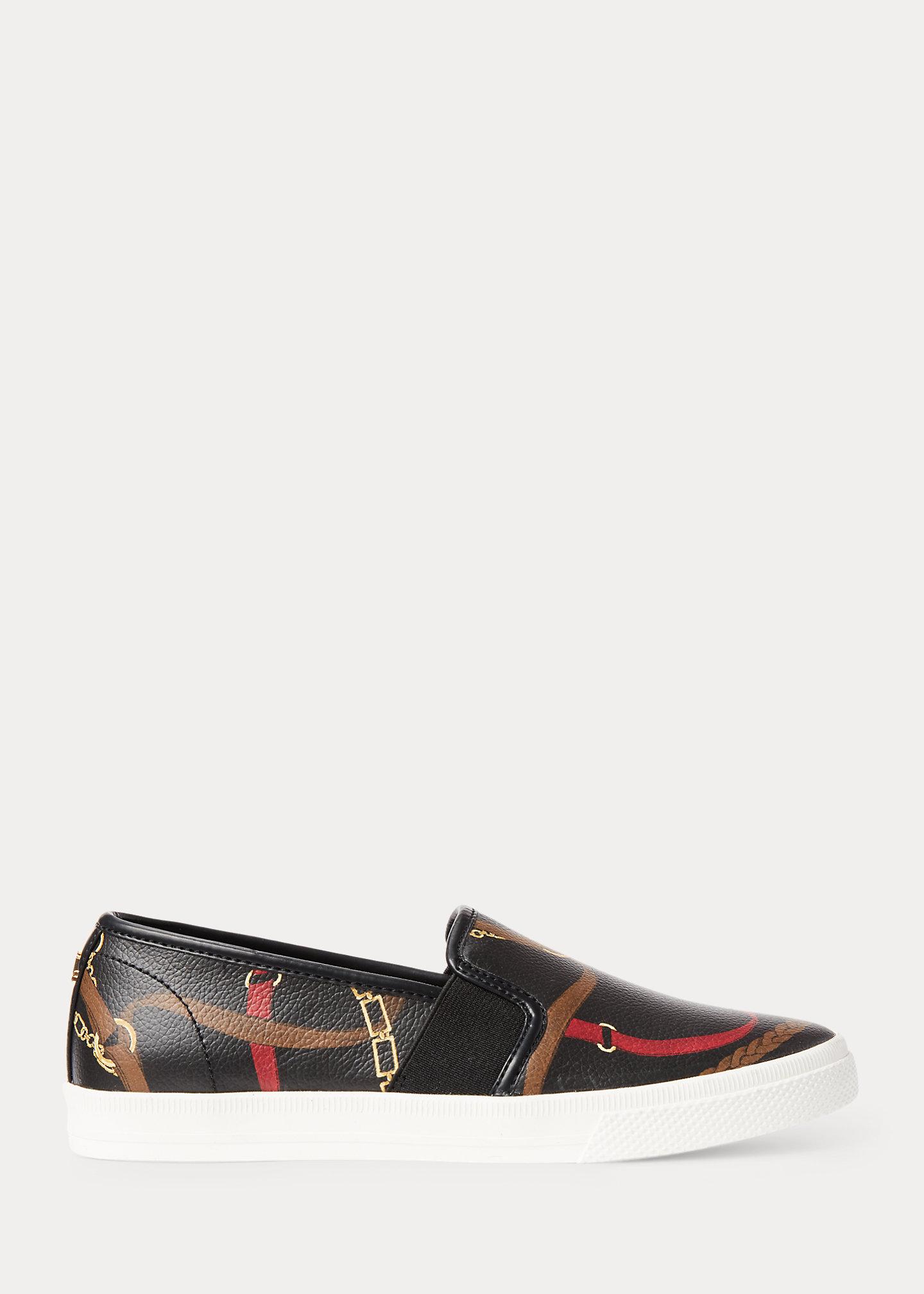 Lauren Jinny Faux-Leather Sneaker 1