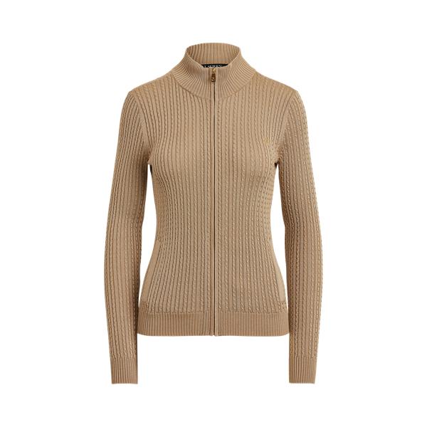 Lauren Cable Knit Full Zip Sweater