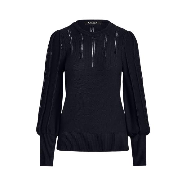 Lauren Puff Sleeve Cotton Sweater