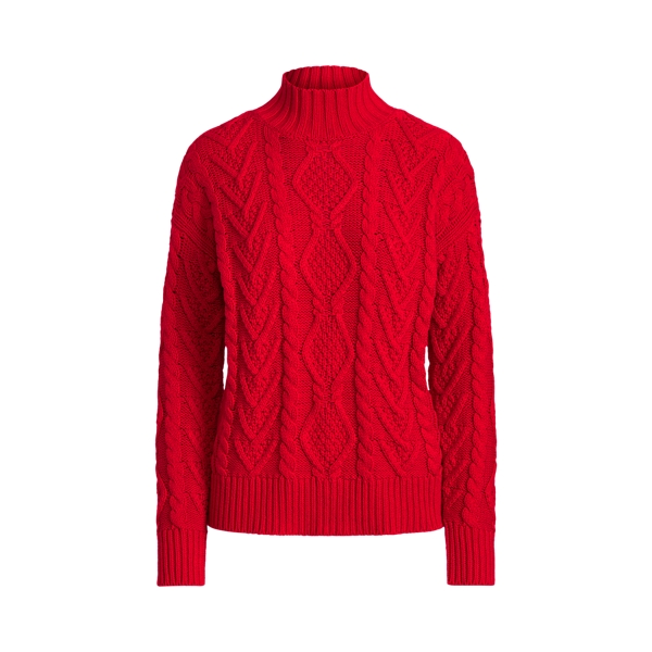 Lauren Cable Knit Mockneck Sweater