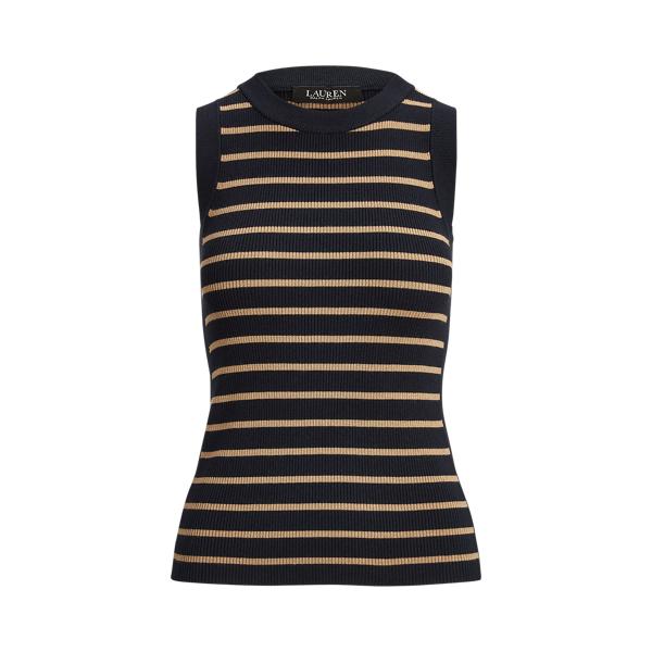 Lauren Metallic Stripe Sleeveless Sweater