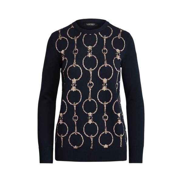 Lauren Chain Print Crewneck Sweater