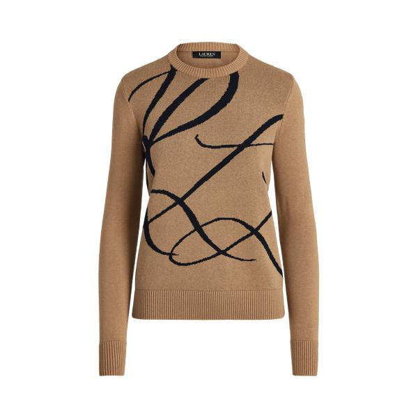 Lauren Logo Cotton Blend Sweater