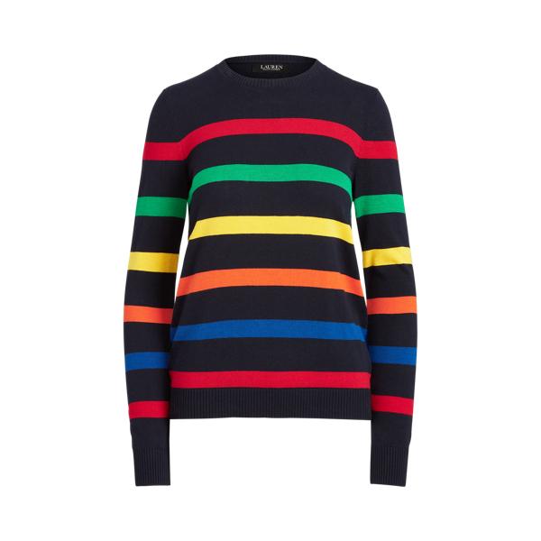 Lauren Striped Cotton Blend Sweater