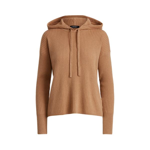 로렌 랄프로렌 캐시미어 후드 스웨터 Lauren Washable Cashmere Hooded Sweater,Classic Camel