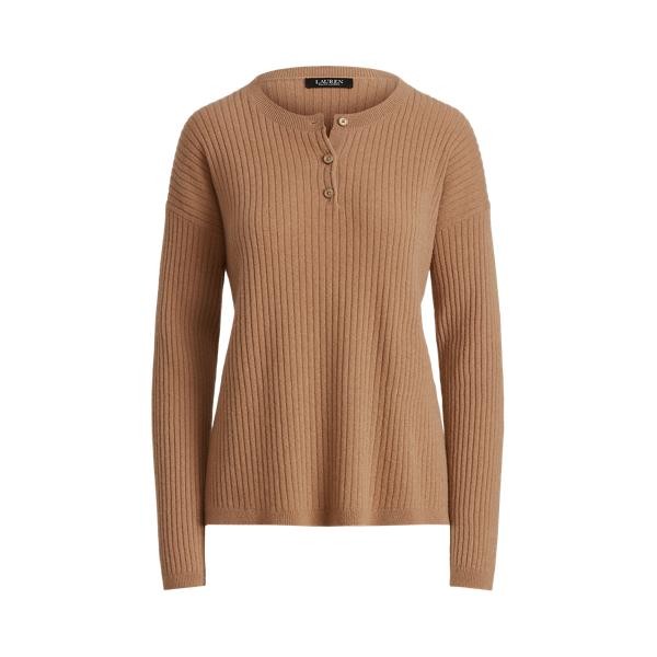 Lauren Washable Cashmere Henley Sweater