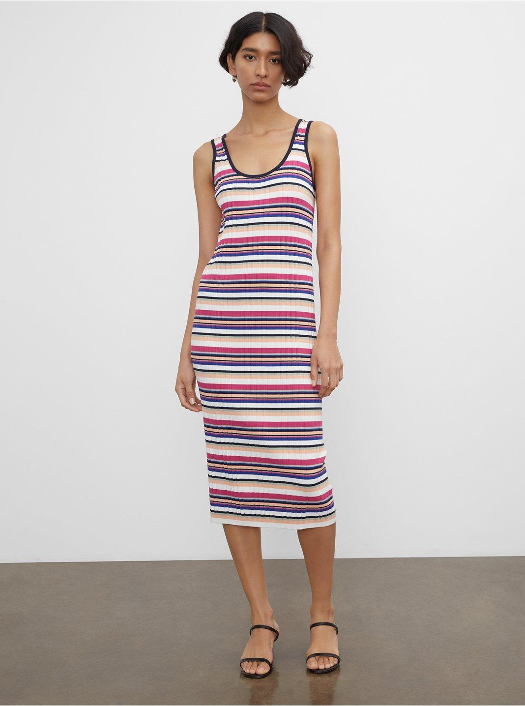 클럽 모나코 스트라이프 골지 썸머 원피스 Club Monaco Striped Ribbed Summer Dress