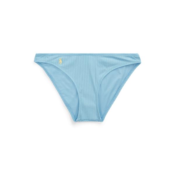 Ralph Lauren Ribbed Bikini Bottom In Blue