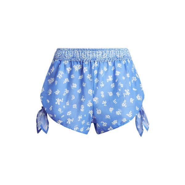 Ralph Lauren Bandanna Self-tie Short In Blue