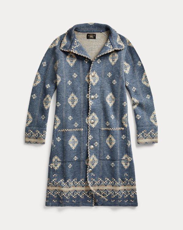 Cotton-Wool Long Sweater Jacket