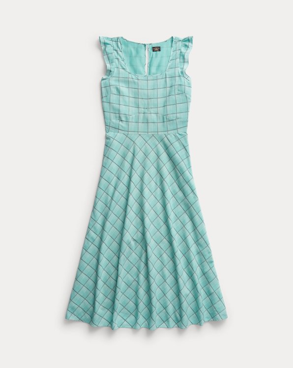 Checked Cotton Dobby Dress