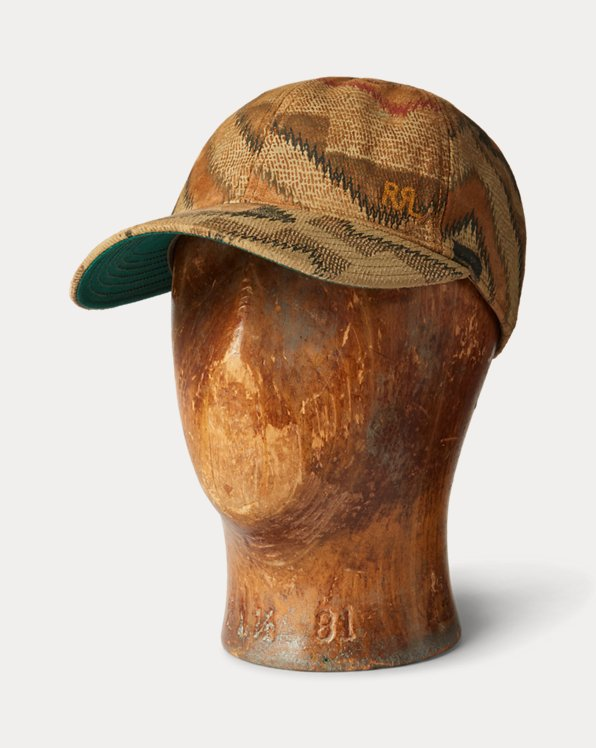 Southwestern-Print Suede Ball Cap