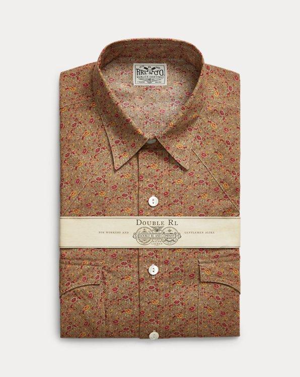 Slim Fit Floral-Print Western Shirt