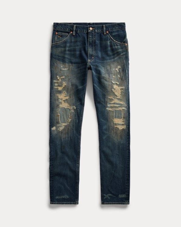 High Slim Fit Hand-Repaired Jean