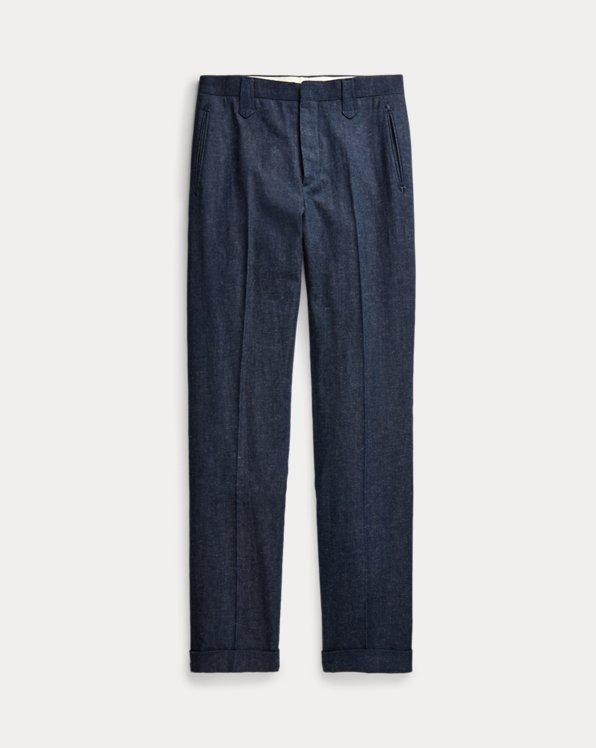 Slim Fit Denim Western Suit Trouser