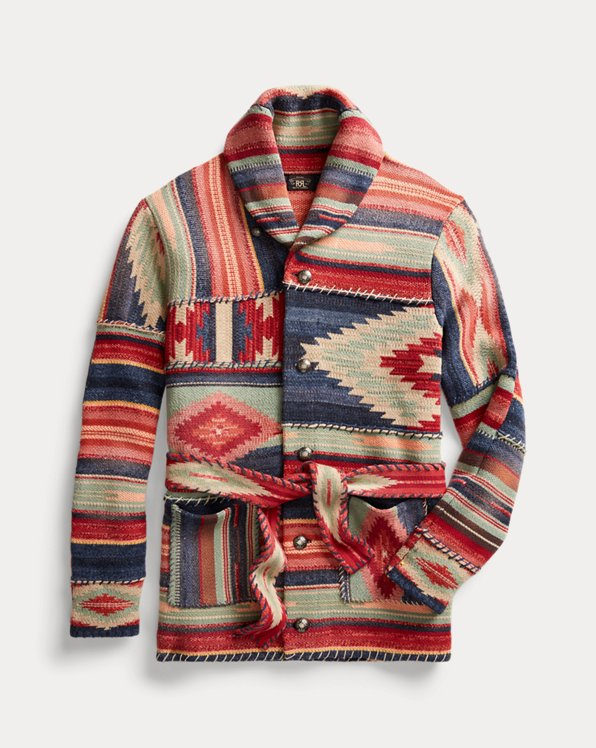Patchwork Belted Cardigan