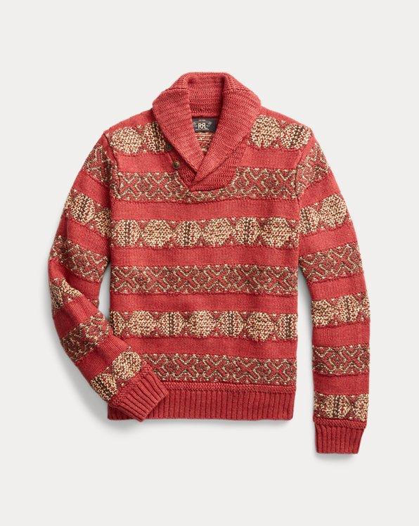 Intarsia-Knit Linen-Blend Sweater