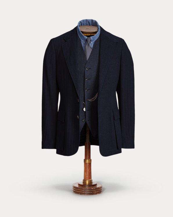 Indigo Herringbone Sport Coat