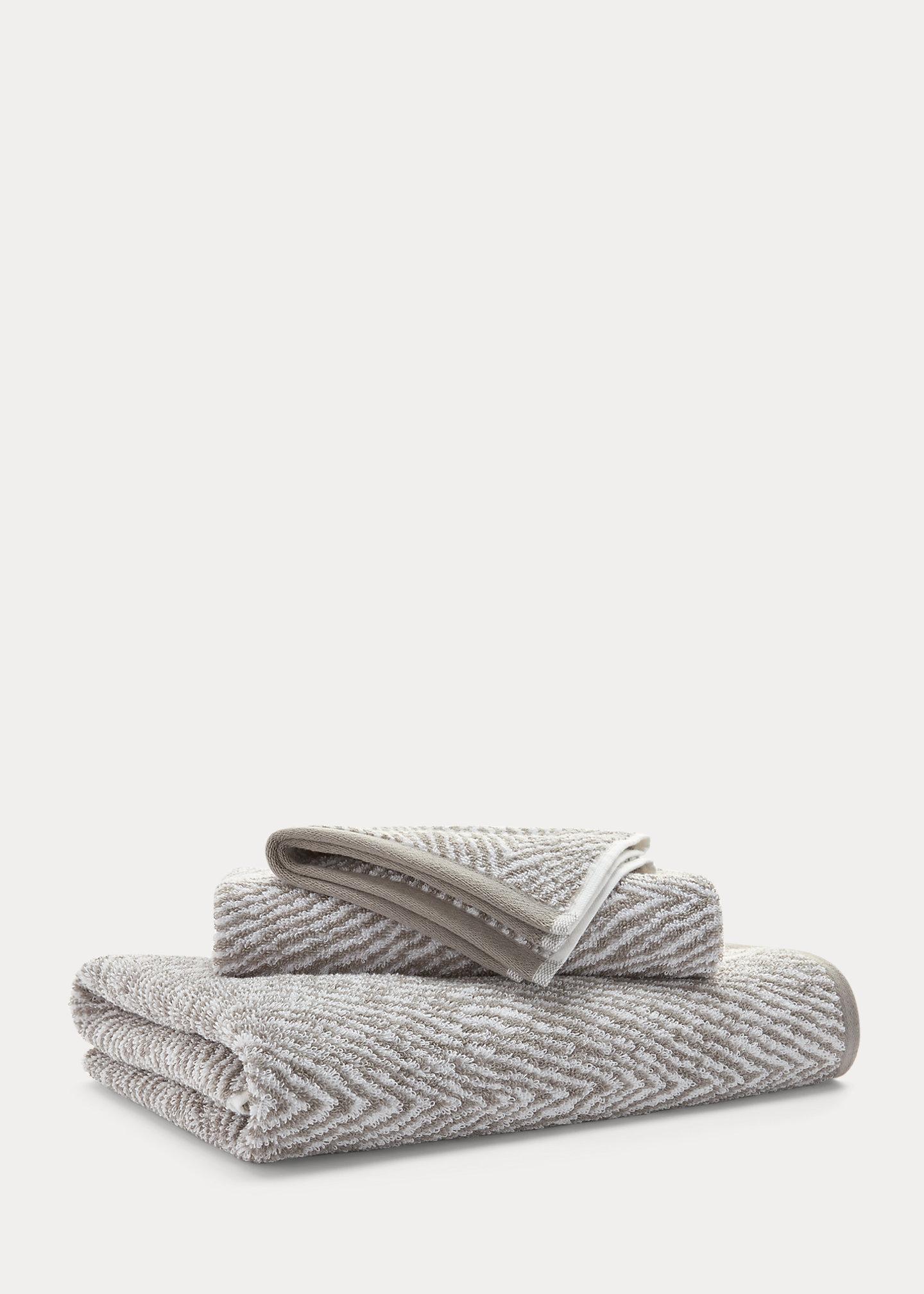 Lauren Home Sanders Herringbone Bath Towels