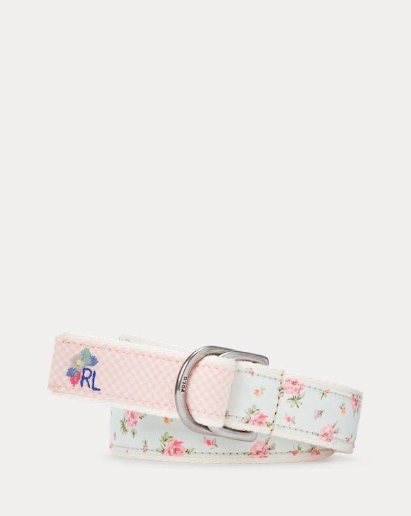 Floral & Gingham Webbed Cotton Belt