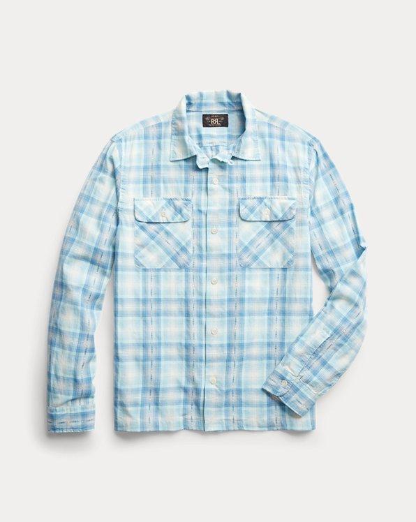 Plaid Twill Camp Shirt