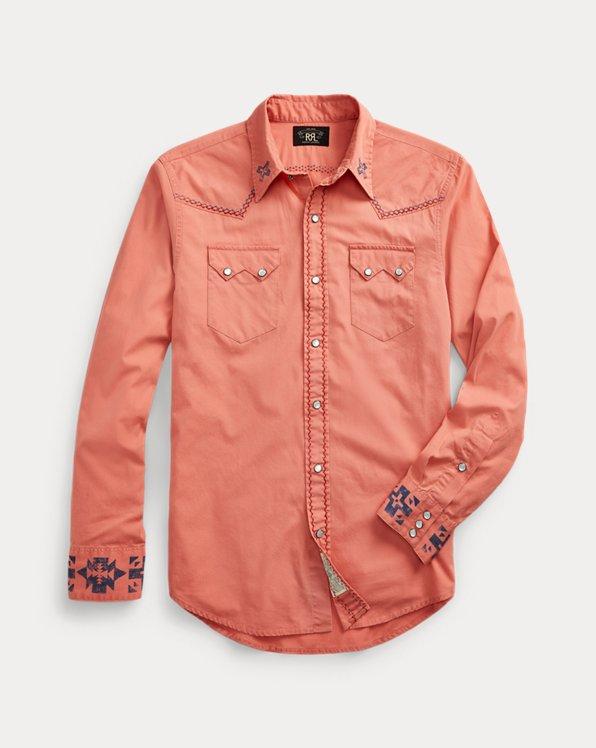 Slim Fit Poplin Western Shirt