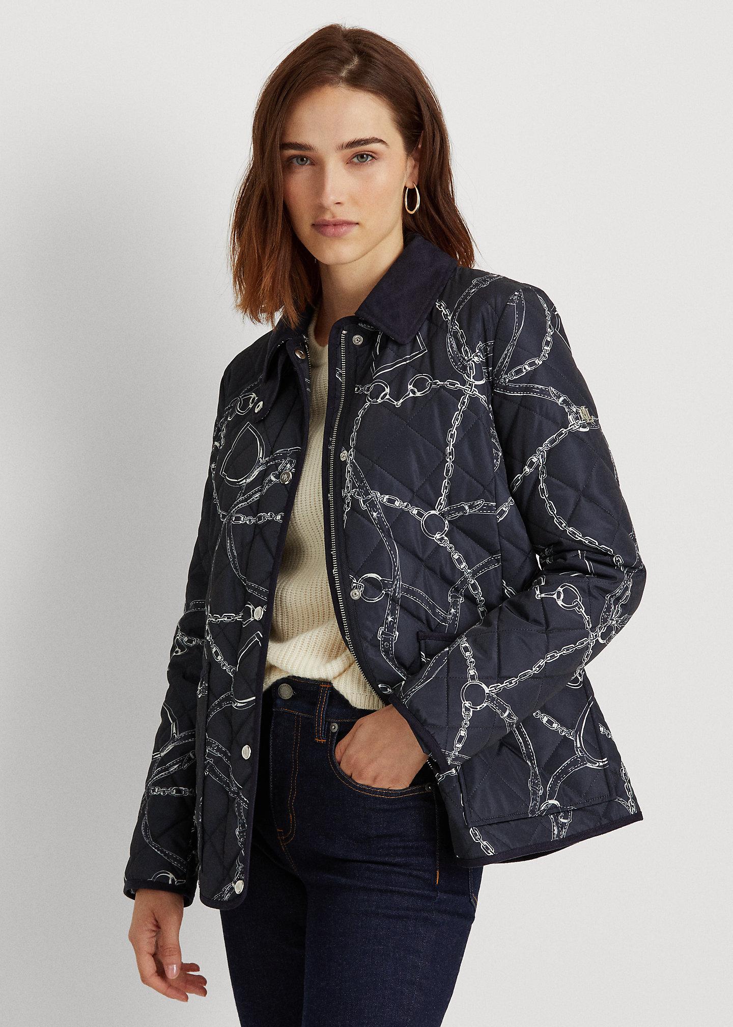 Lauren Belting-Print Quilted Jacket 1