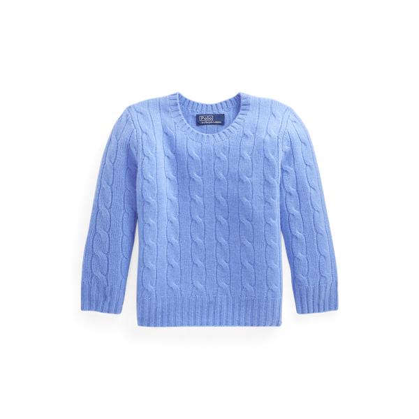 폴로 랄프로렌 Polo Ralph Lauren Cable Knit Cashmere Sweater,Soft Royal Heather