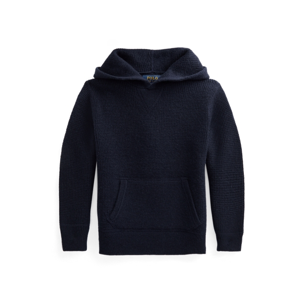 폴로 랄프로렌 Polo Ralph Lauren Washable Cashmere Hooded Sweater,헌터 Hunter Navy