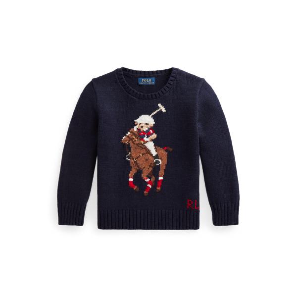 폴로 랄프로렌 Polo Ralph Lauren Polo Bear Big Pony Sweater,Navy