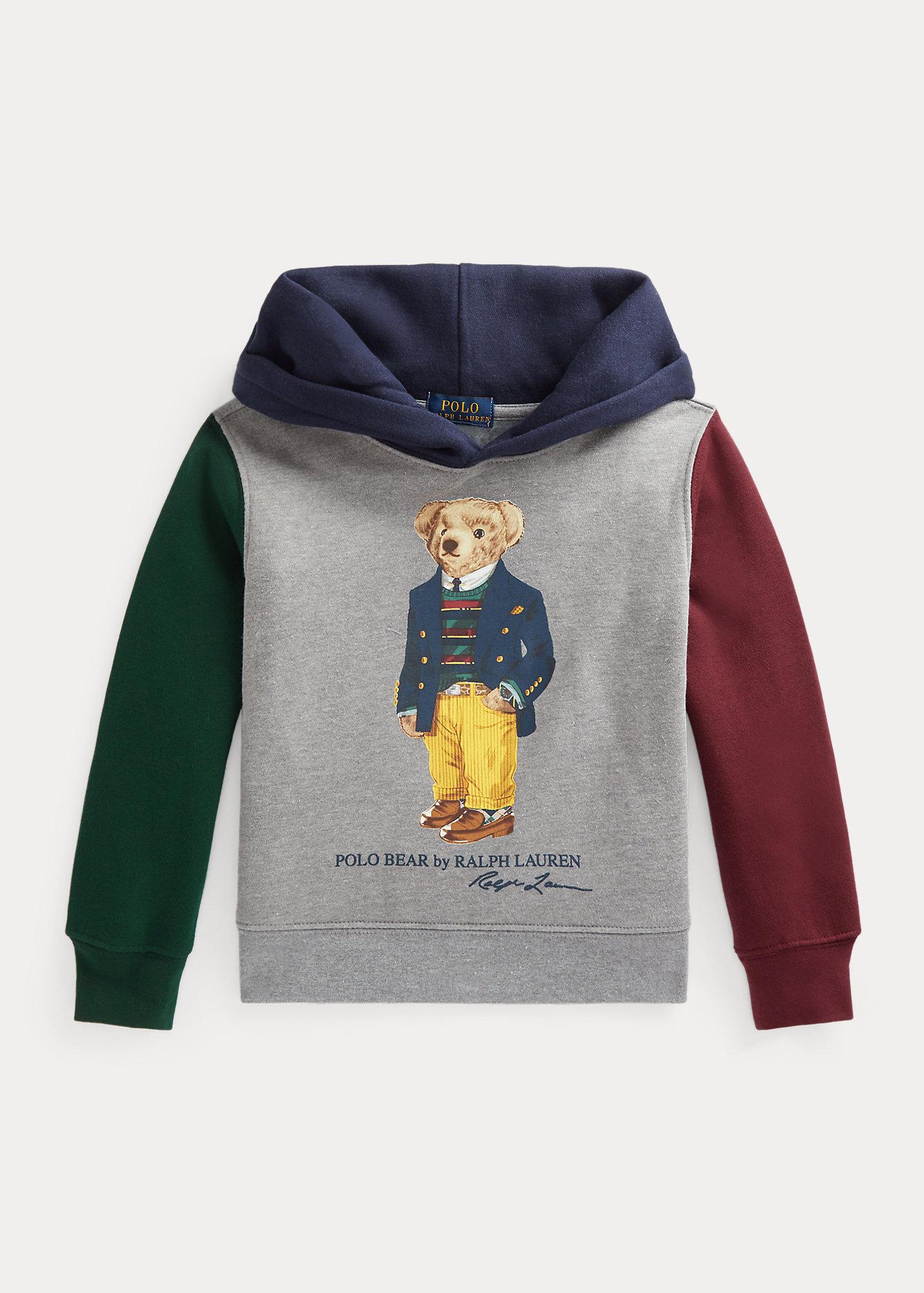 Polo Ralph Lauren Polo Bear Color Blocked Fleece Hoodie