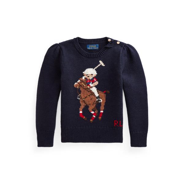 폴로 랄프로렌 여아용 폴로 베어 스웨터 Polo Ralph Lauren Polo Bear Cotton Wool Sweater,RL Navy