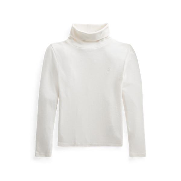 폴로 랄프로렌 여아용 터틀넥 스웨터 Polo Ralph Lauren Ribbed Cotton Blend Turtleneck,Nevis