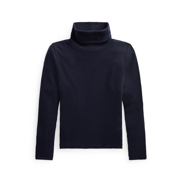 폴로 랄프로렌 여아용 터틀넥 스웨터 Polo Ralph Lauren Ribbed Cotton Blend Turtleneck, Hunter Navy