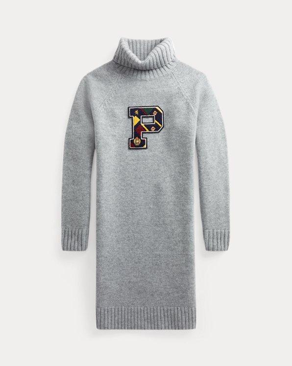 Wool Turtleneck Sweater Dress