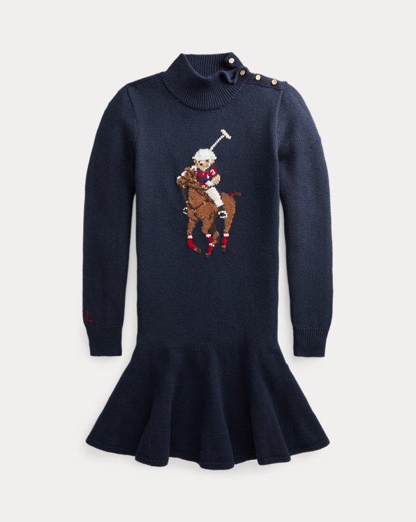Polo Bear & Big Pony Sweater Dress