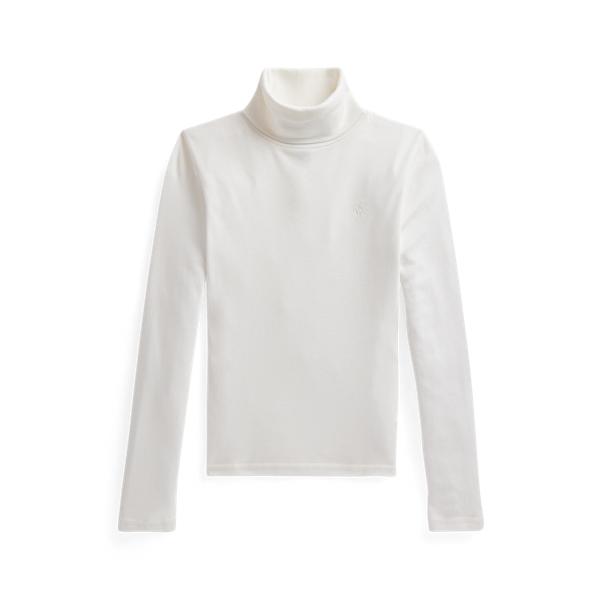 폴로 랄프로렌 걸즈 터틀넥 스웨터 Polo Ralph Lauren Ribbed Cotton Blend Turtleneck,Nevis