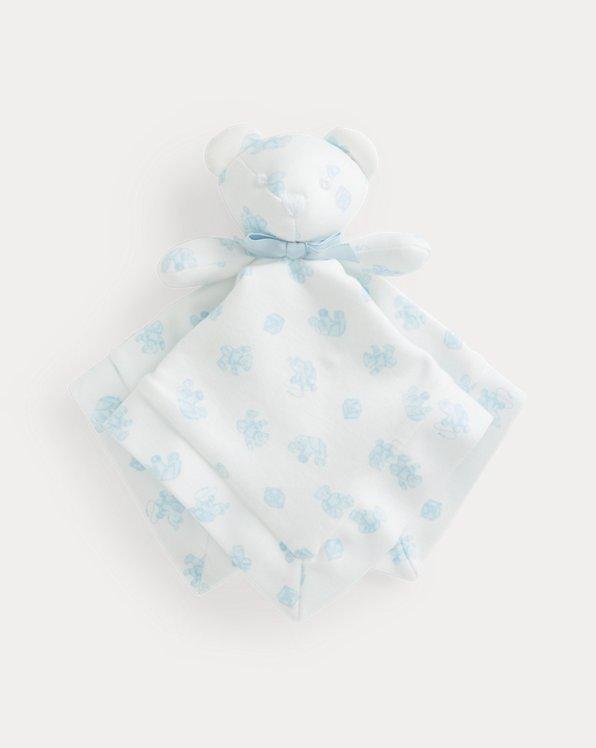 Interlock Bear Lovey Blanket