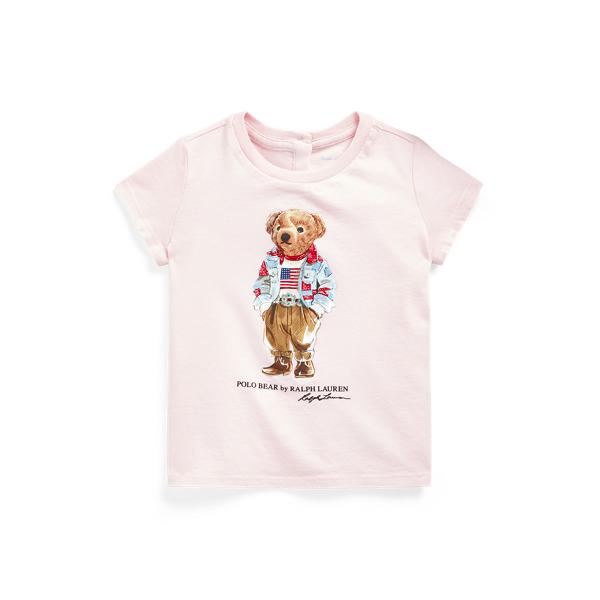Ralph Lauren Babies' Polo Bear Cotton Jersey Tee In Pink