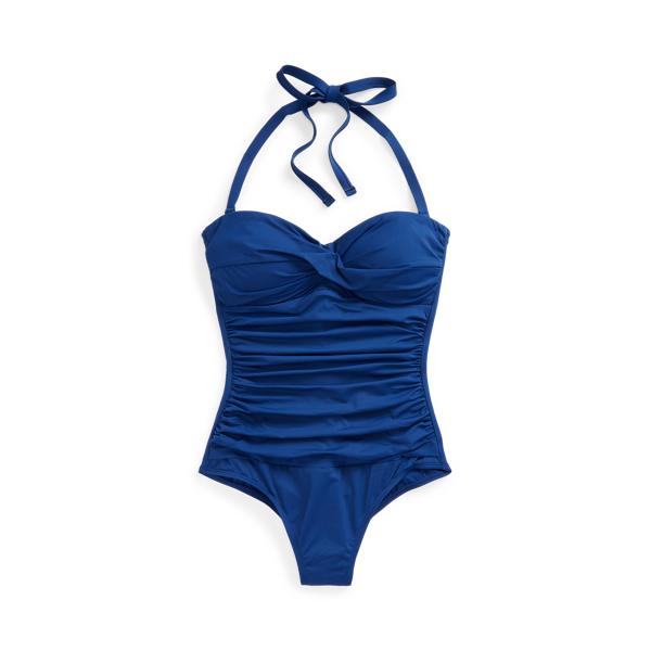 Lauren Ralph Lauren Twisted Bandeau One-piece In Blue