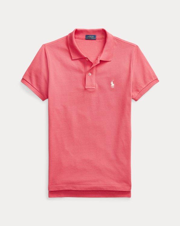 Polo skinny en coton piqué