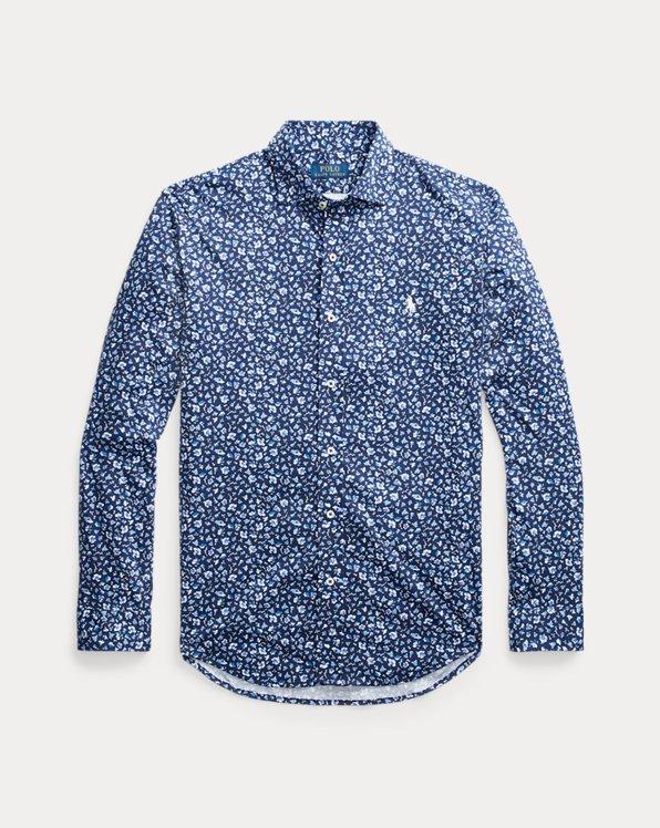 Slim Fit Knit Dress Shirt