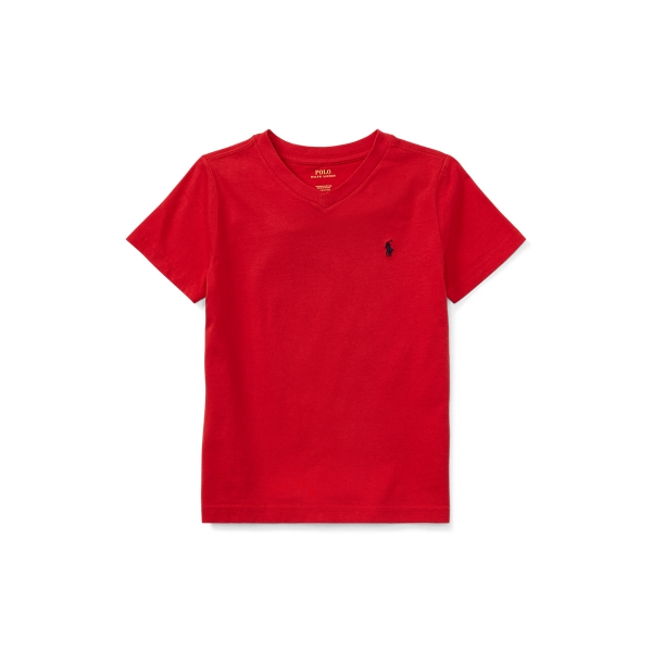 Polo Ralph Lauren Kids' Cotton Jersey V-neck Tee In Rl 2000 Red