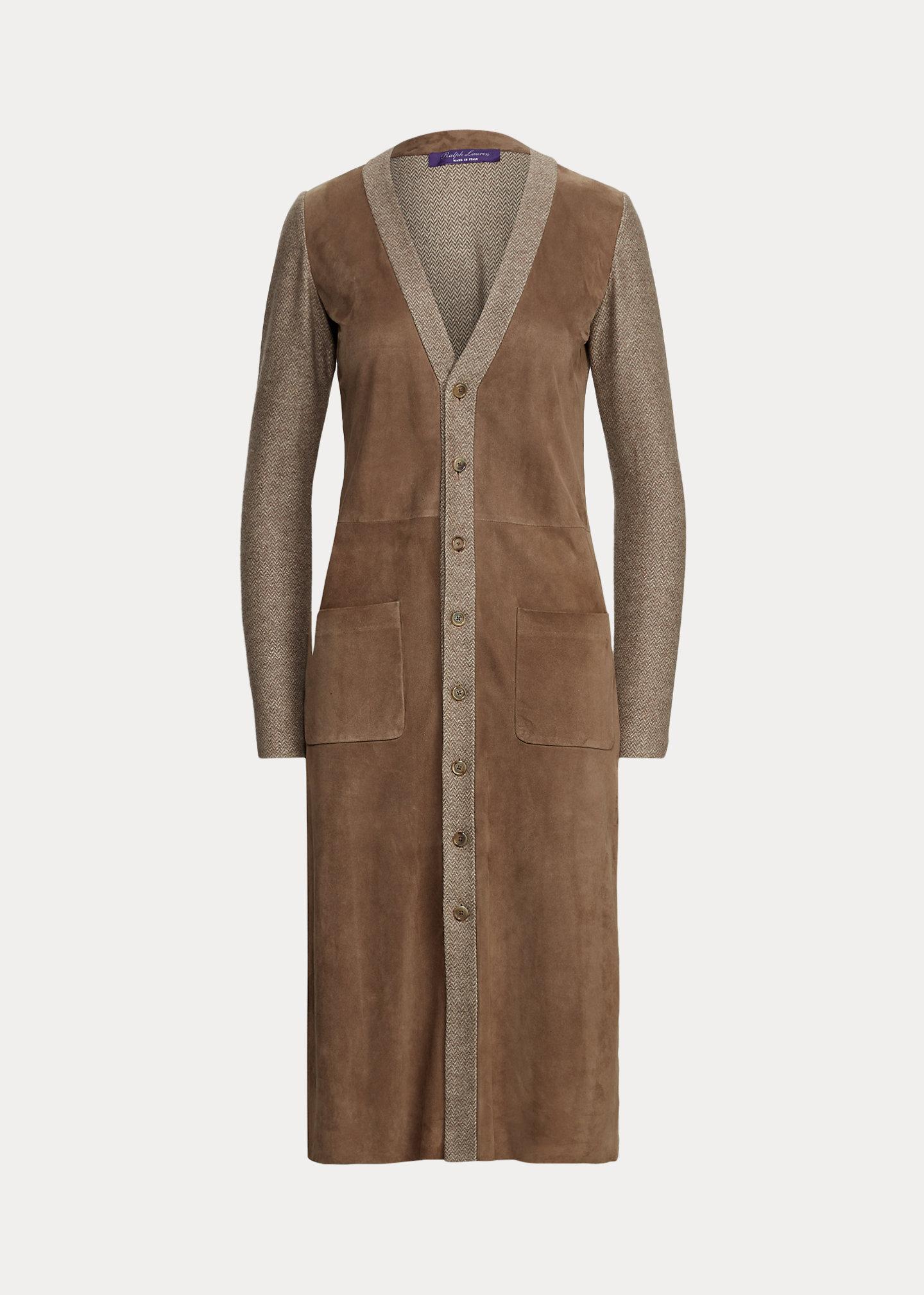 Ralph Lauren Collection Alivia Lamb-Suede Day Dress 2