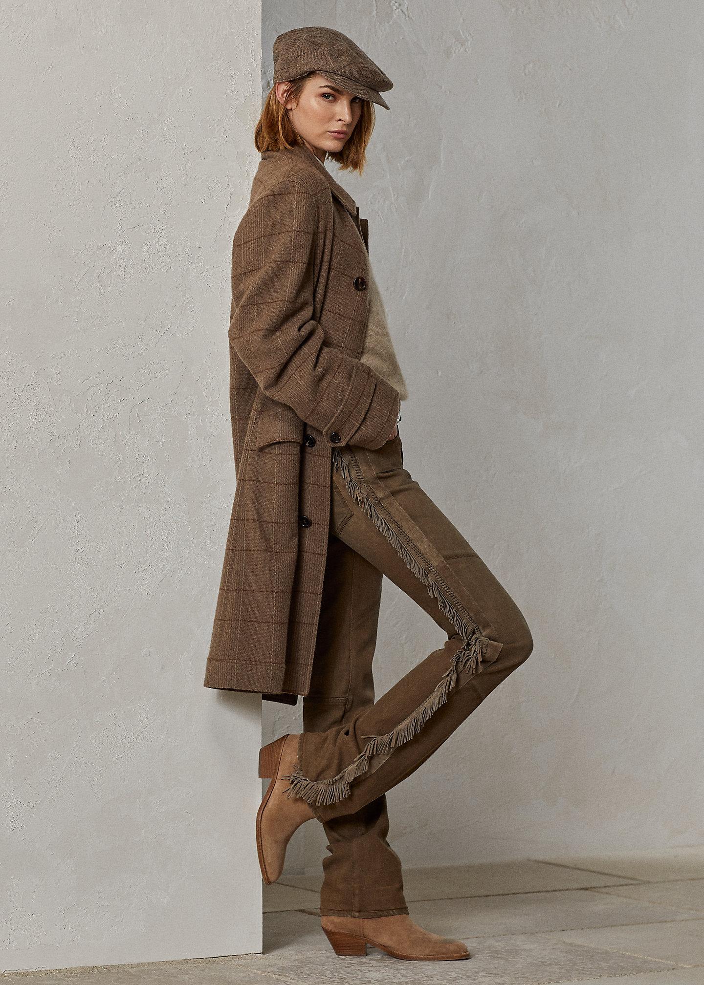 Ralph Lauren Collection Fringe Slim Straight Ankle Jean 1